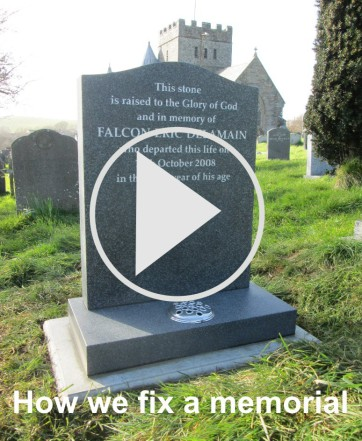 How we at Stonescript monumental stonemasons fix a headstone