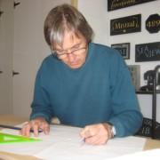 Stonemasons need to draw inscriptions by hand