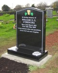 Black Polished Granite headstone