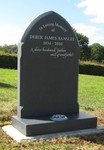 Dark Grey Unpolished Granite headstone